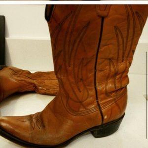 🌷👩🏼🌾Wrangler vintage leather rare cowboy boot
